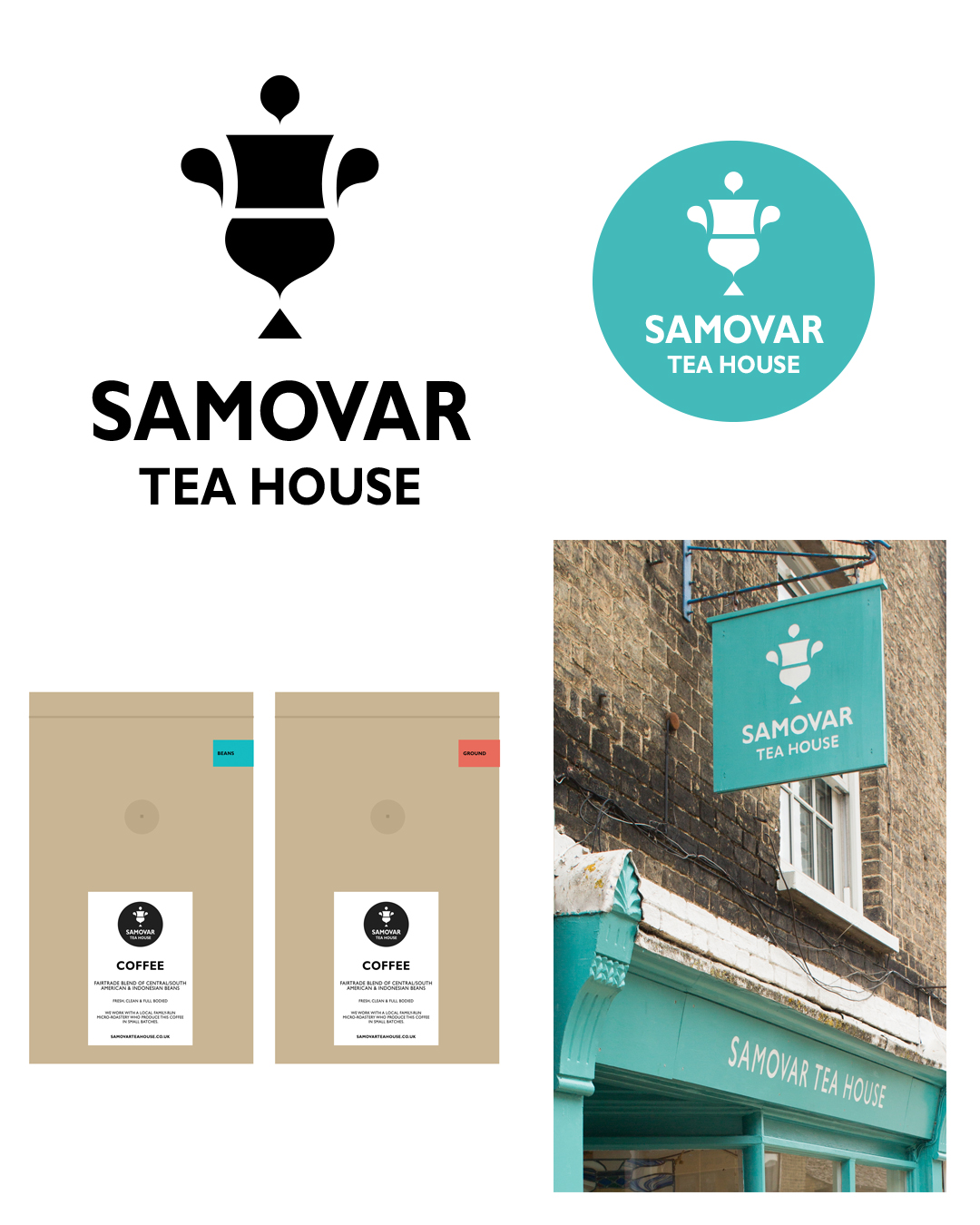 samovar tea house branding