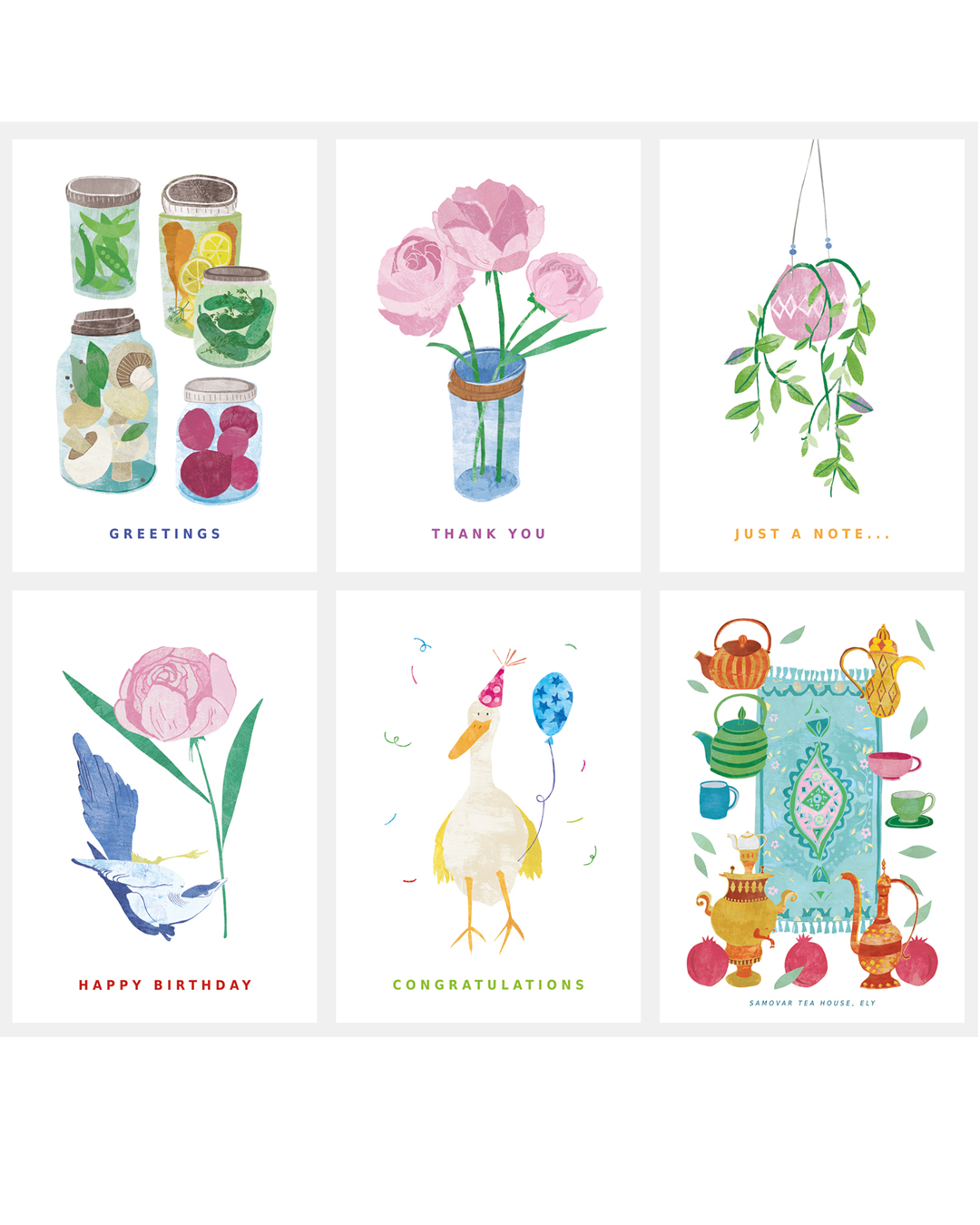illustrated greetings cards
